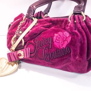Juicy Couture Velvet & Leather Bag - Gently Used!